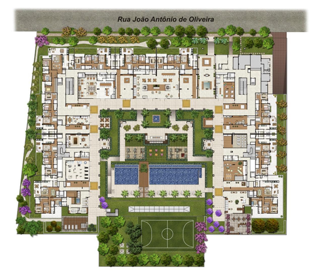 Ilustração artística da implantação do Villaggio Luna | Luzes da Mooca - Villaggio Luna – Apartamento na  Mooca - São Paulo - São Paulo