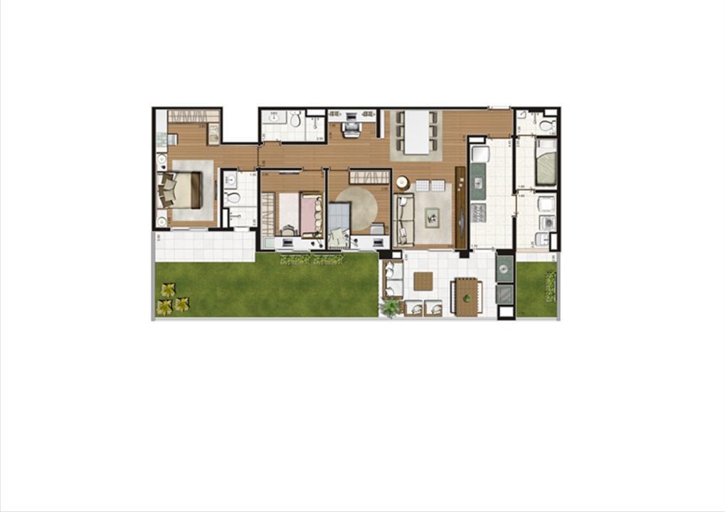 Planta Giardino 140 m² | Luzes da Mooca - Villaggio Luna – Apartamentona  Mooca - São Paulo - São Paulo