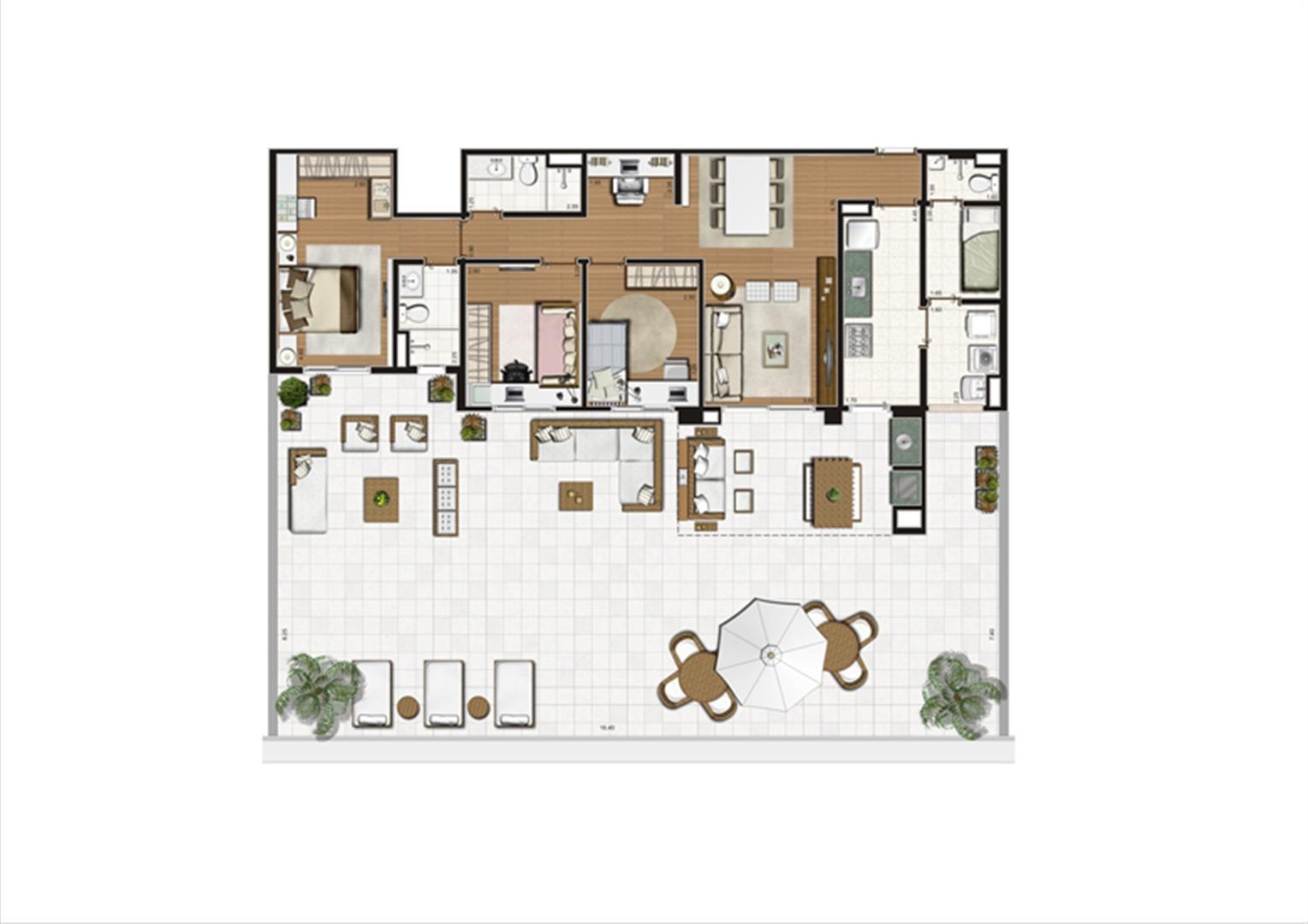 Planta Terrazzo 223 m² | Luzes da Mooca - Villaggio Luna – Apartamento na  Mooca - São Paulo - São Paulo