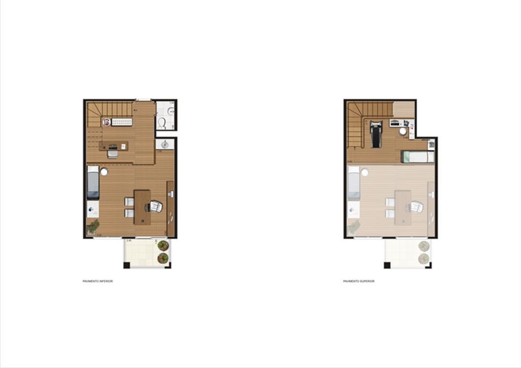 Duplex de 57 m² Final 5 | Luzes da Mooca - Atrio Giorno – Salas Comerciaisna  Mooca - São Paulo - São Paulo