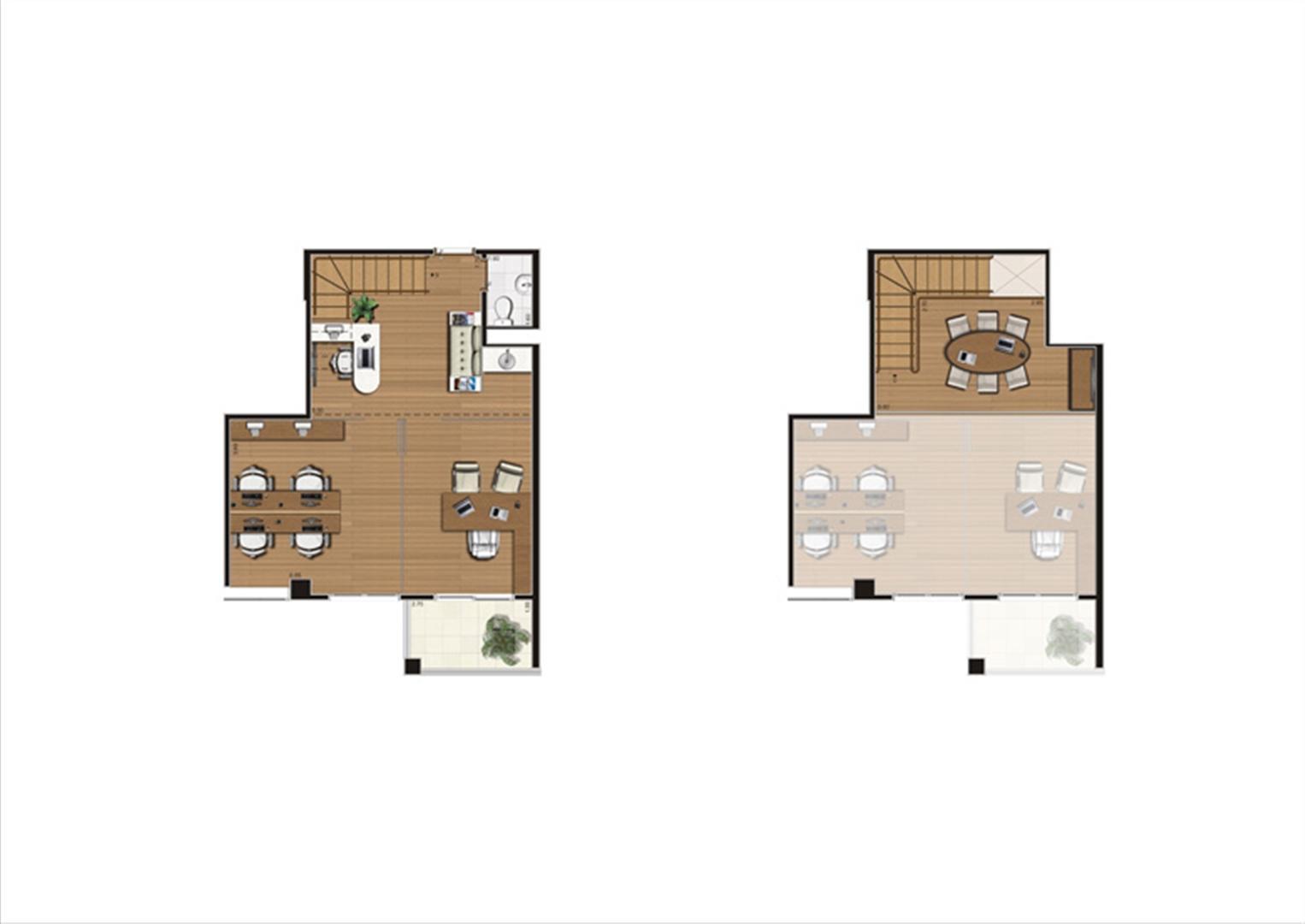 Duplex de 67 m²  Finais 1, 9, 10 e 24 | Luzes da Mooca - Atrio Giorno – Salas Comerciais na  Mooca - São Paulo - São Paulo