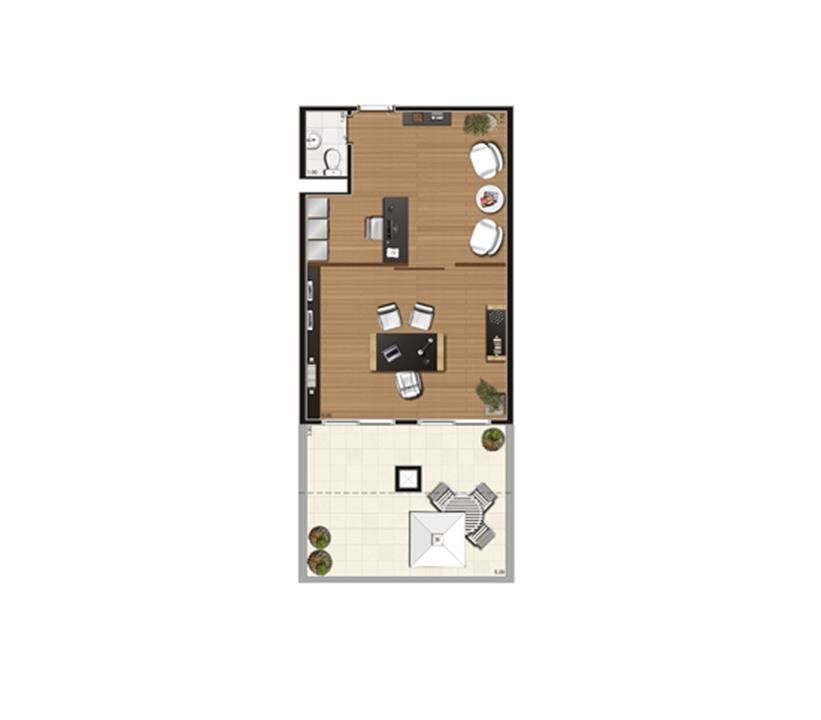 Giardino de 61 m² Finais 21, 22 e 23 | Luzes da Mooca - Atrio Giorno – Salas Comerciaisna  Mooca - São Paulo - São Paulo