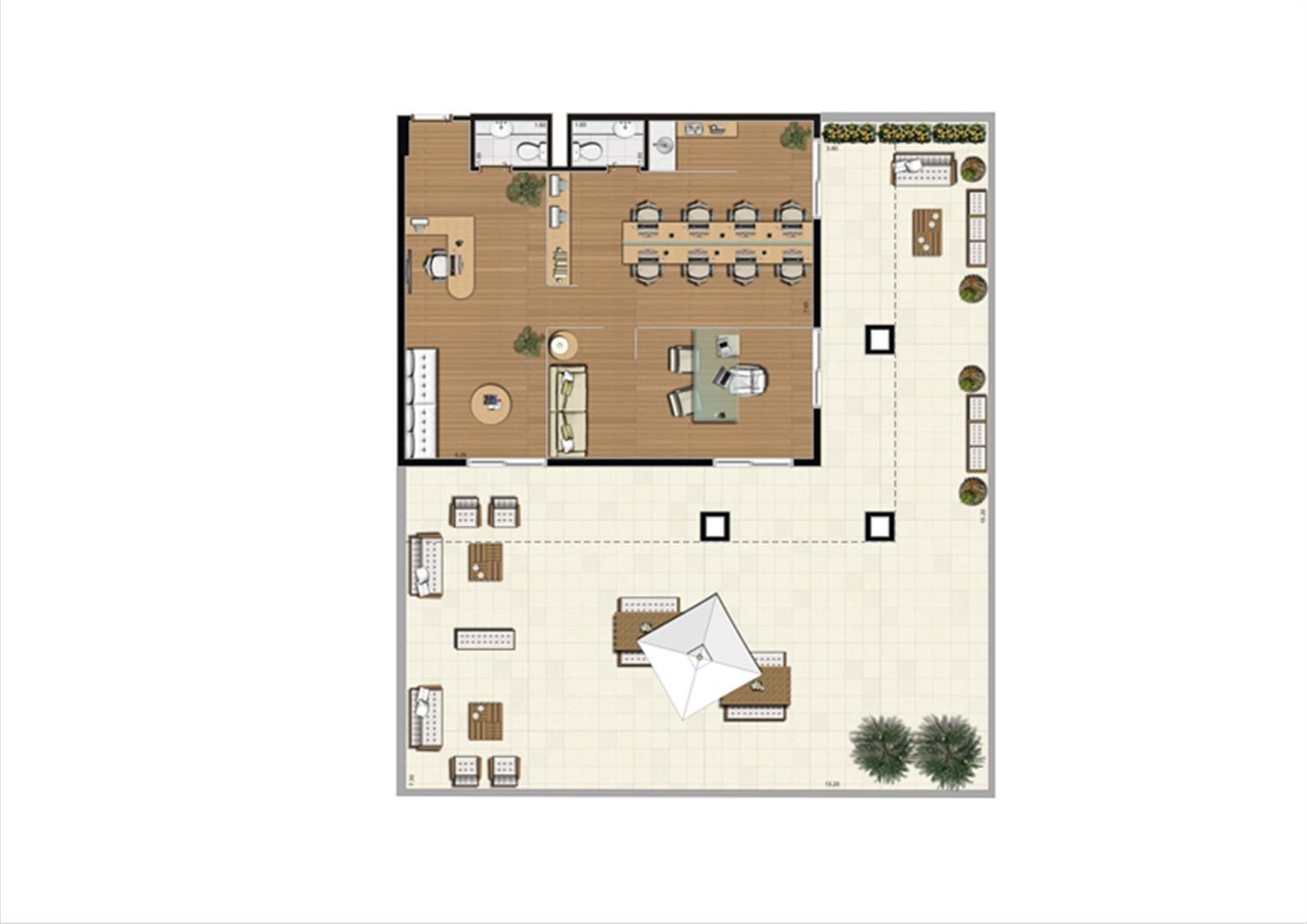 Giardino de 208 m² Final 16 | Luzes da Mooca - Atrio Giorno – Salas Comerciais na  Mooca - São Paulo - São Paulo