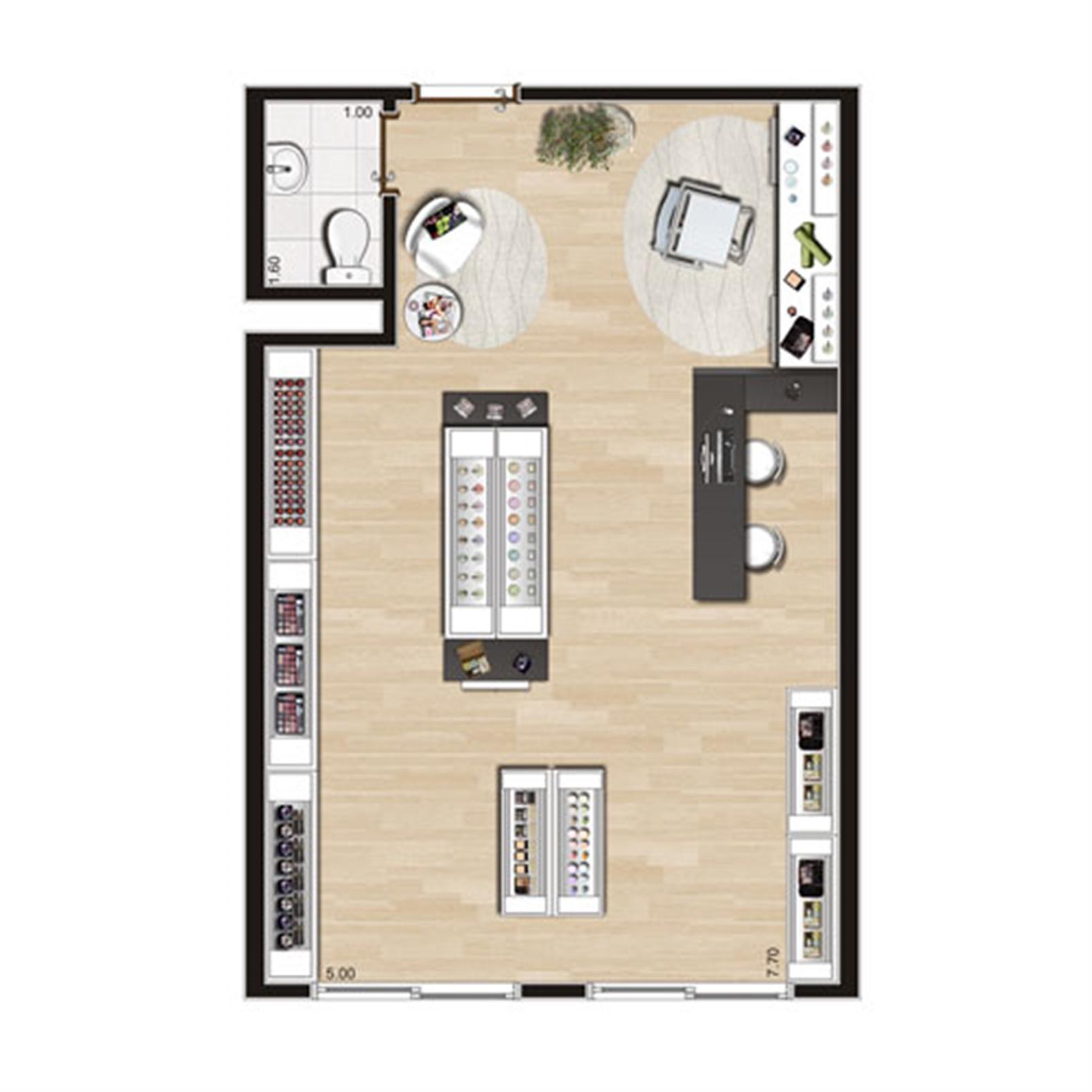 Loja de 41 m² final 2 | Luzes da Mooca - Atrio Giorno – Salas Comerciaisna  Mooca - São Paulo - São Paulo
