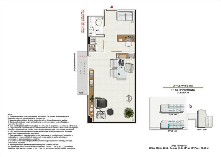 Planta Coluna 11 Torres 1 e 2 | Nova América Offices – Salas Comerciais no  Nova América - Rio de Janeiro - Rio de Janeiro