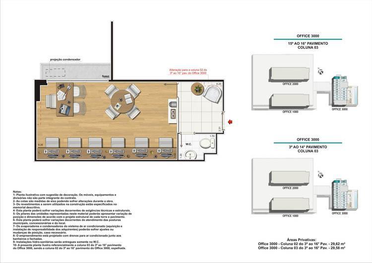 Planta Coluna 03 Torre 3 | Nova América Offices – Salas Comerciais no  Nova América - Rio de Janeiro - Rio de Janeiro