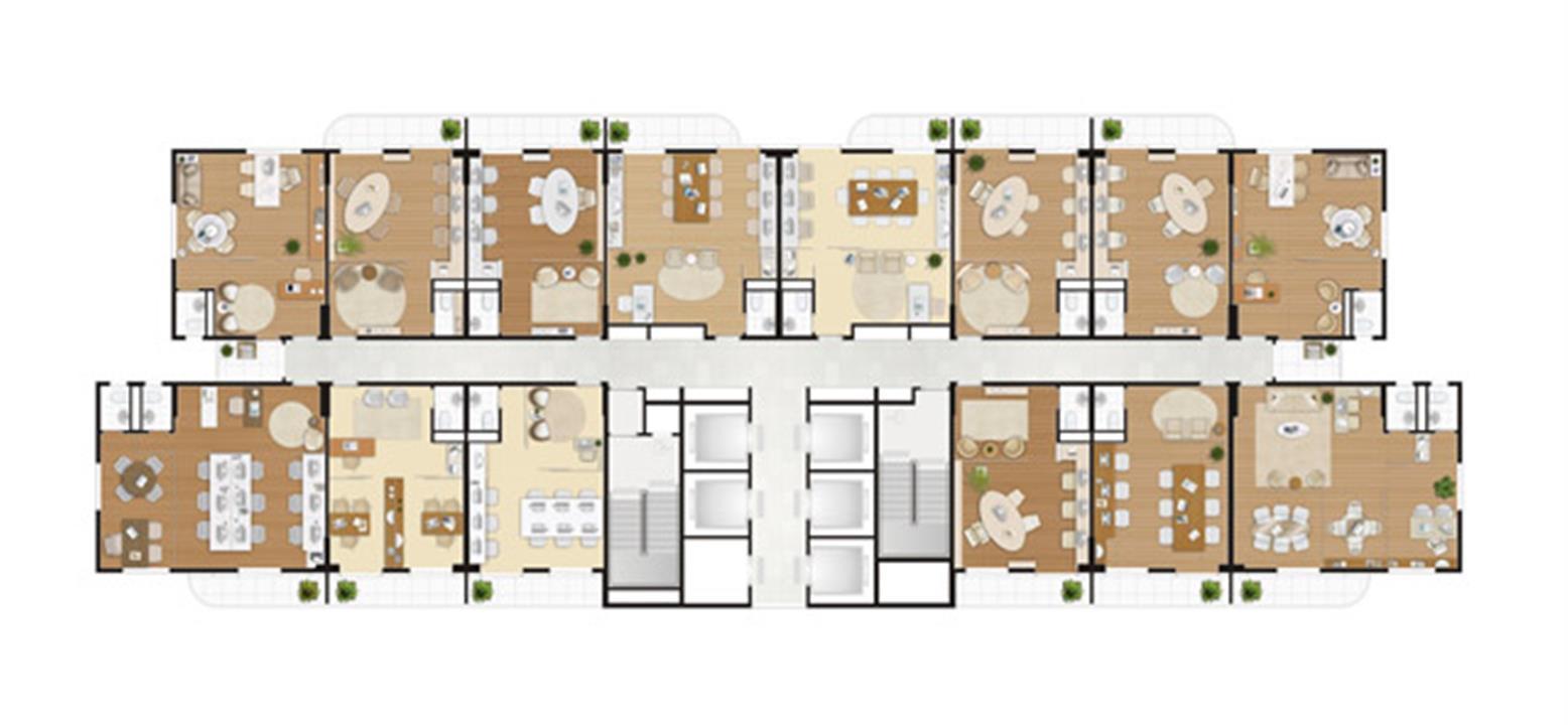 Pav tipo todas as salas | Wave – Salas Comerciaisem  Valongo - Santos - São Paulo