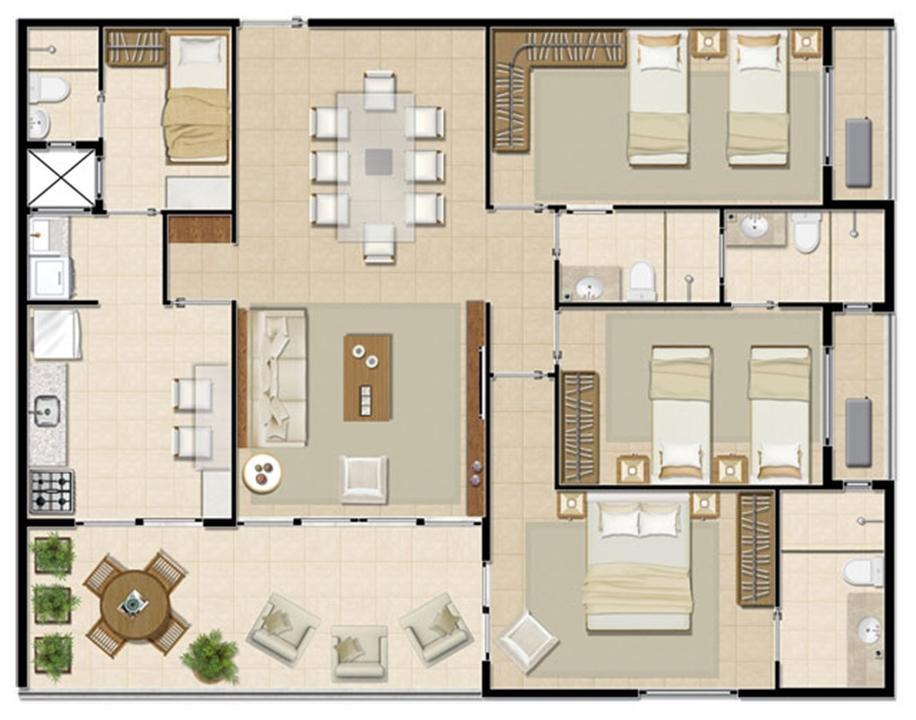 Apartamento Solar - 118 m² | Mandara Lanai – Apartamentono  Porto das Dunas - Aquiraz - Ceará