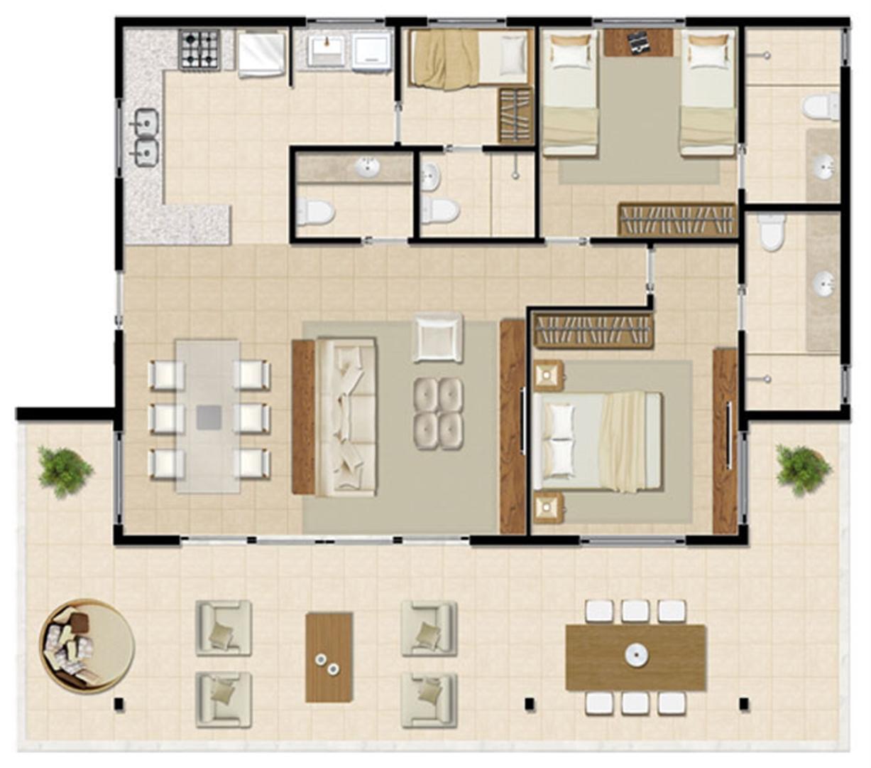 Bangalô Térreo - 129 m² | Mandara Lanai – Apartamento no  Porto das Dunas - Aquiraz - Ceará