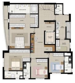 Planta duplex inferior final 2 | Domani LifeStyle – Apartamento no  Setor Marista - Goiânia - Goiás