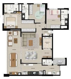 Planta tipo 9º ao 26º pavimento | Domani LifeStyle – Apartamento no  Setor Marista - Goiânia - Goiás