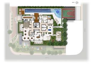 Perspectiva Ilustrada da Implantação Lazer | Domani LifeStyle – Apartamento no  Setor Marista - Goiânia - Goiás