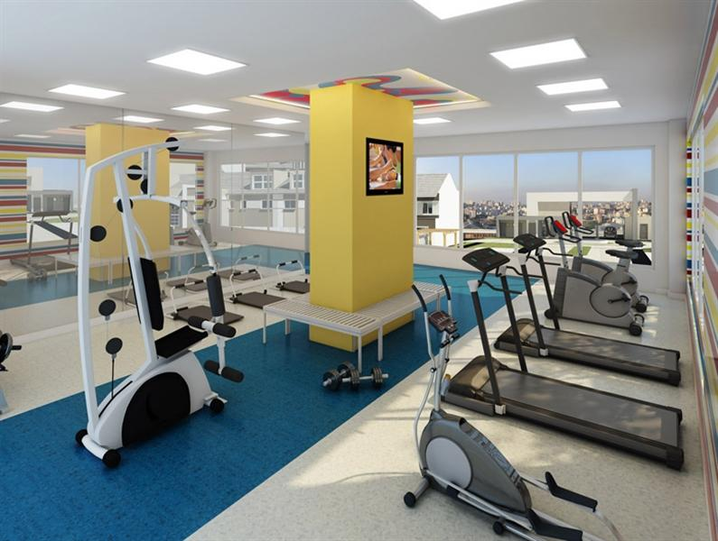 Perspectiva Ilustrada do Fitness Center