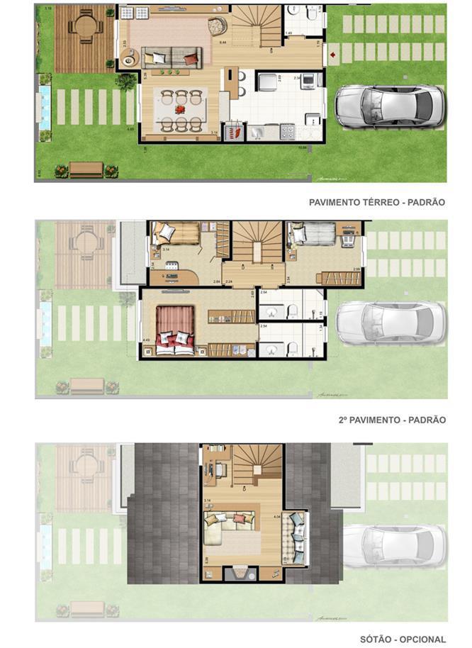 Planta:  | Privilege Exclusive Houses - Casa no Canoas - Moinhos de Vento - Canoas RS