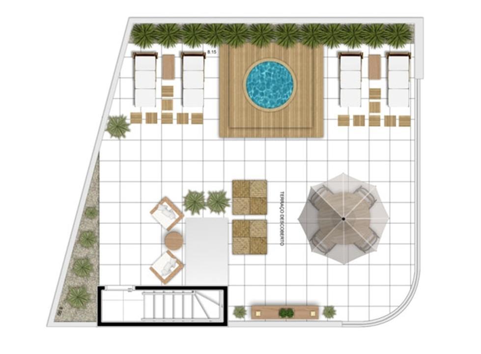 PLANTA - APTO TIPO A - 166 m² DUPLEX SUPERIOR  | In Mare Bali – Apartamentono  Distrito Litoral de Cotovelo - Parnamirim - Rio Grande do Norte