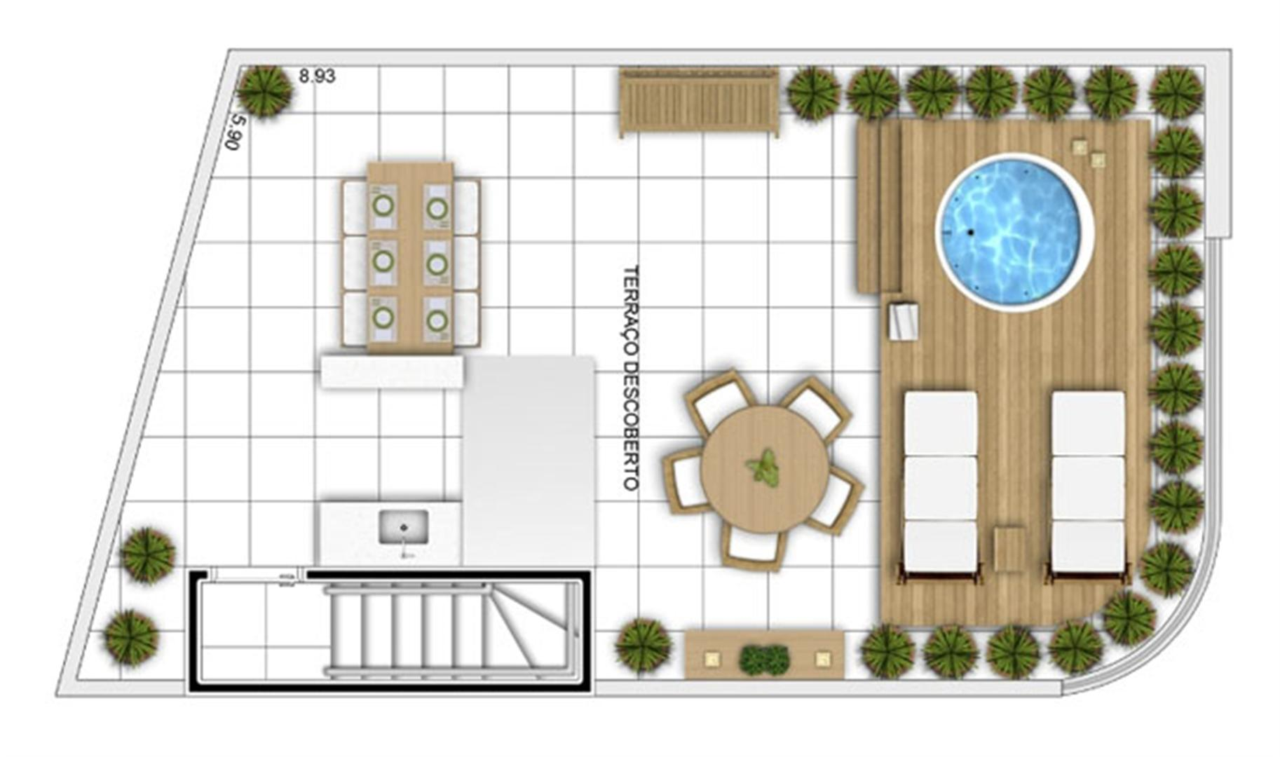 PLANTA - APTO TIPO C - DUPLEX SUPERIOR - 114 m²  | In Mare Bali – Apartamento no  Distrito Litoral de Cotovelo - Parnamirim - Rio Grande do Norte