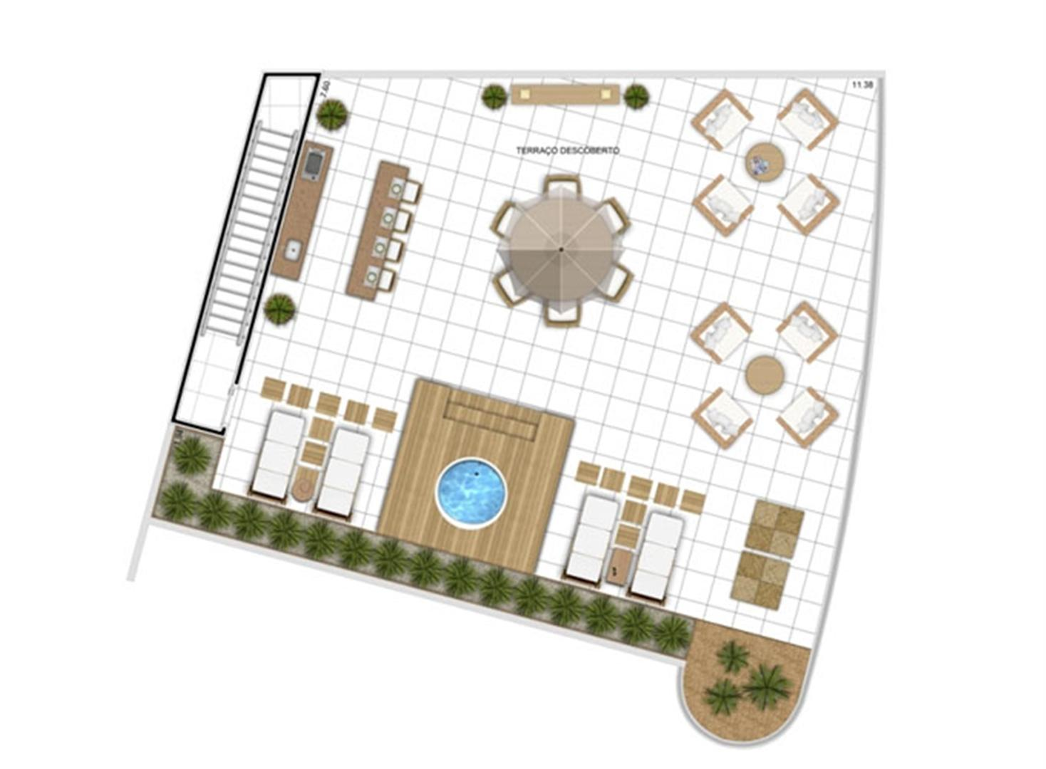 PLANTA - APTO TIPO E - DUPLEX SUPERIOR - 305 m²  | In Mare Bali – Apartamento no  Distrito Litoral de Cotovelo - Parnamirim - Rio Grande do Norte