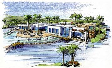 Club House e piscinas