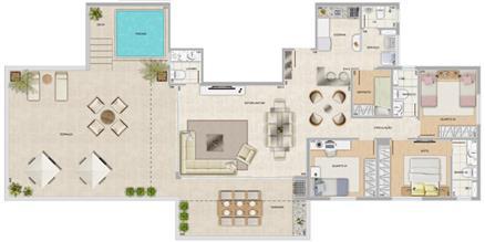 Perspectiva ilustrativa da cobertura Mirante | Condomínio Varandas da Serra – Apartamento na  Serra - Belo Horizonte - Minas Gerais