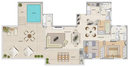 Perspectiva ilustrativa da cobertura Panorama | Condomínio Varandas da Serra – Apartamento na  Serra - Belo Horizonte - Minas Gerais