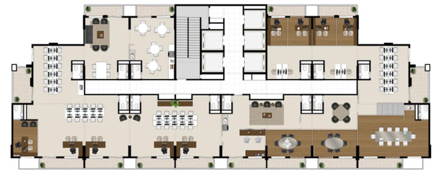 Planta:  | Escritórios Design - Salas Comerciais no Cambuí - Campinas SP
