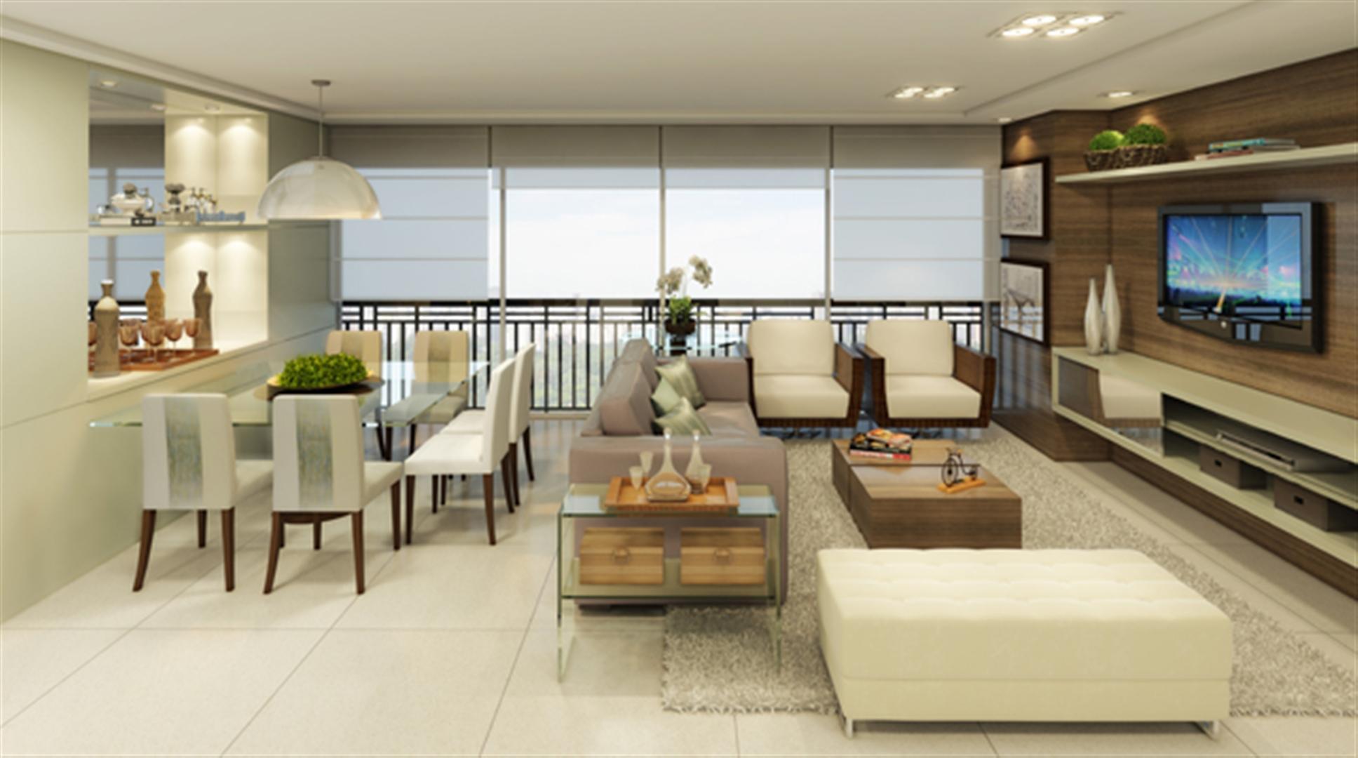 Sala de Estar | Jardins Novo Higienópolis – Apartamentono  Higienópolis - Porto Alegre - Rio Grande do Sul