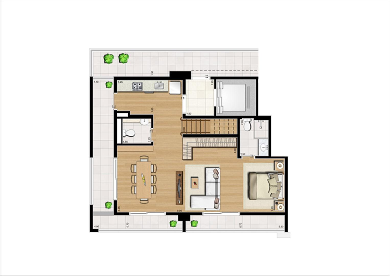 Duplex Inferior de 125 m² | Home Boutique – Apartamento no  Brooklin - São Paulo - São Paulo
