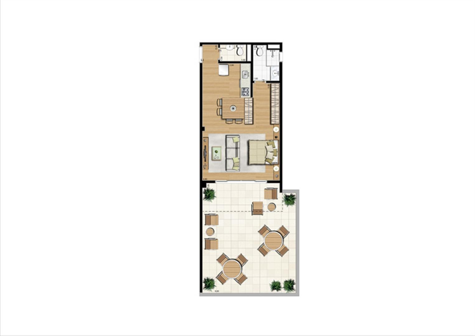 Planta studio inteligente de 86 m² | Home Boutique – Apartamento no  Brooklin - São Paulo - São Paulo