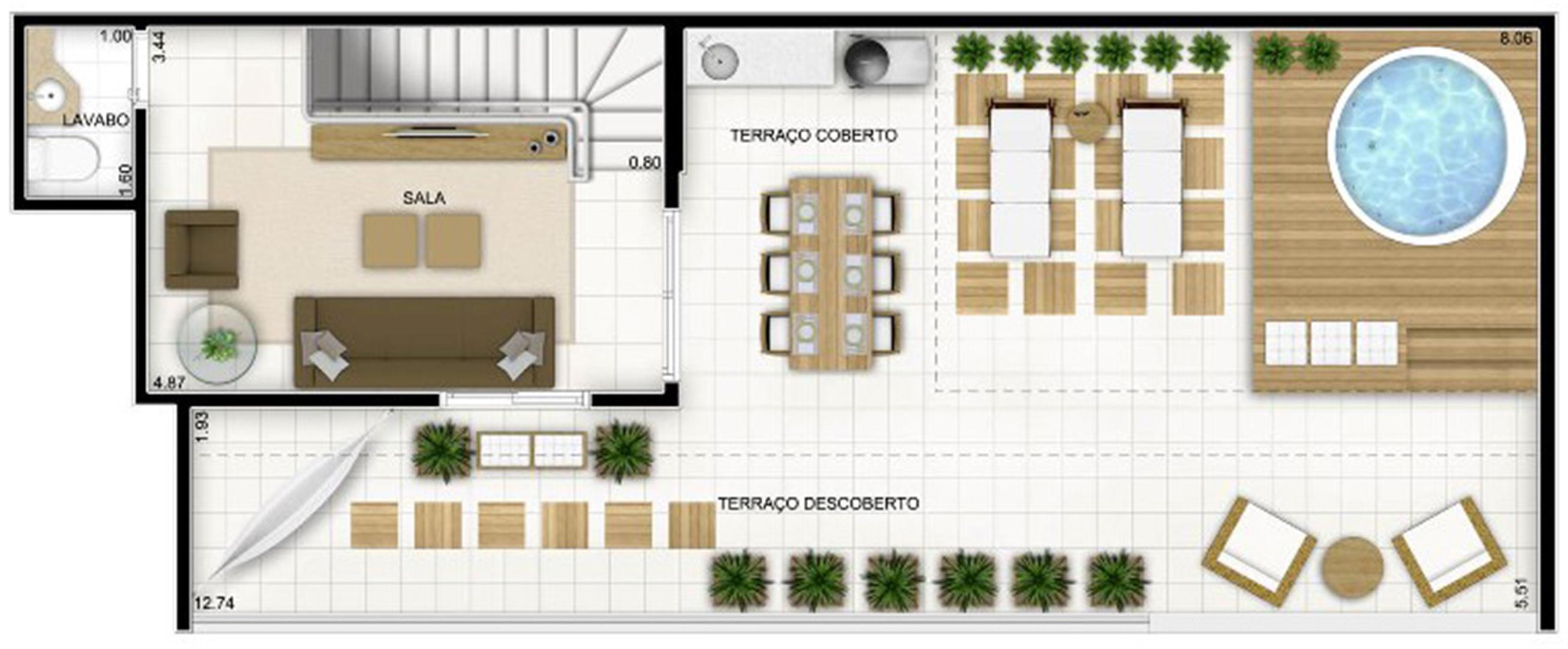 Duplex Andar Superior 159 m² | Quartier Lagoa Nova – Apartamento na  Lagoa Nova - Natal - Rio Grande do Norte
