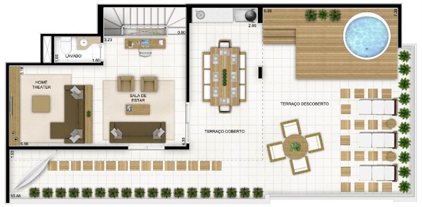 Duplex Andar Superior 236 m² | Quartier Lagoa Nova – Apartamentona  Lagoa Nova - Natal - Rio Grande do Norte