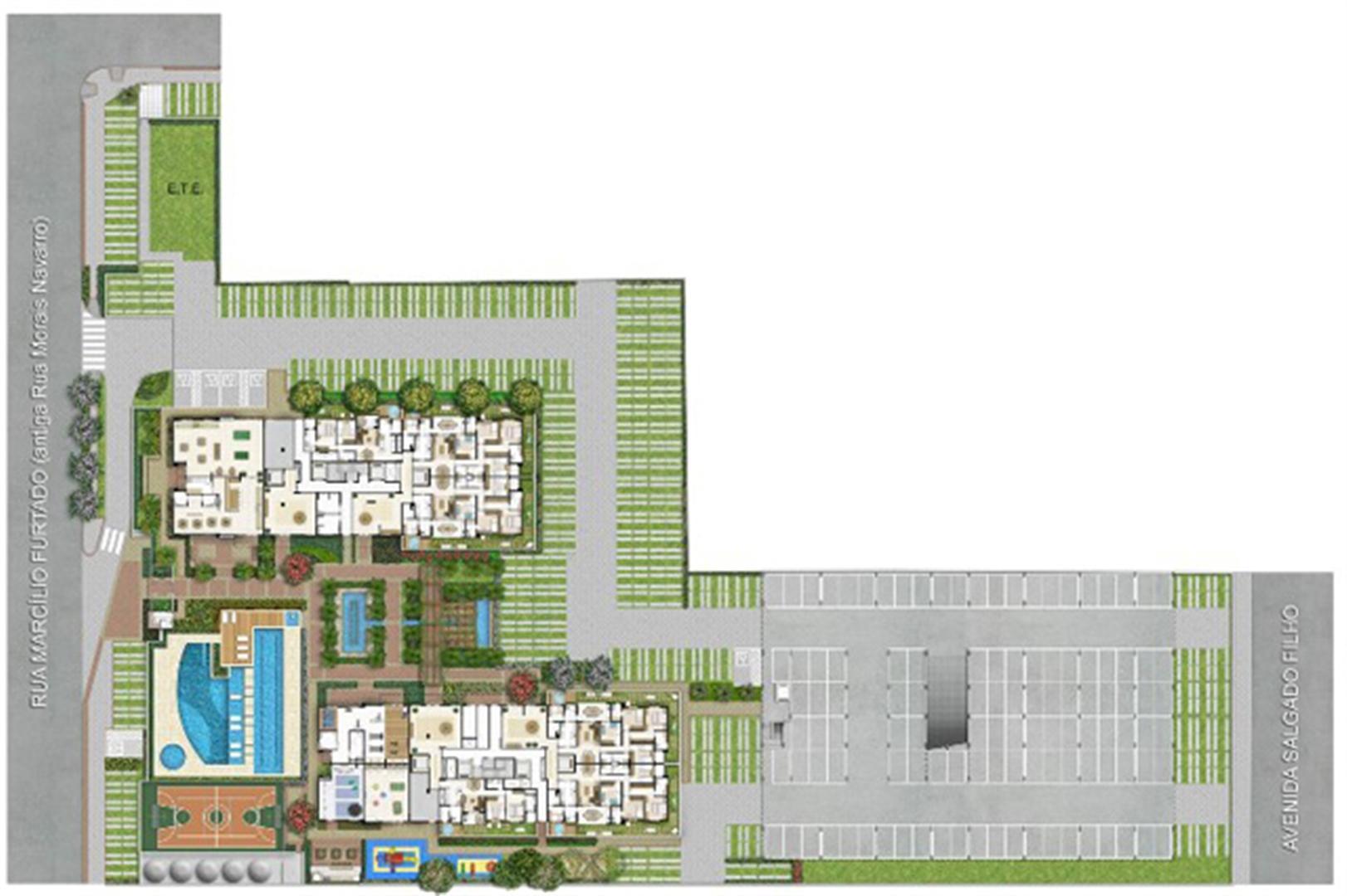 Implantação | Quartier Lagoa Nova – Apartamento na  Lagoa Nova - Natal - Rio Grande do Norte