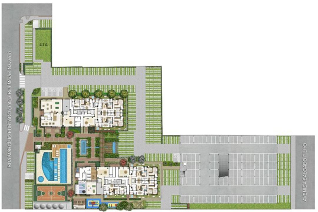 Implantação | Quartier Lagoa Nova – Apartamentona  Lagoa Nova - Natal - Rio Grande do Norte