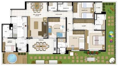 Maison 4 quartos 167 m² | Quartier Lagoa Nova – Apartamento na  Lagoa Nova - Natal - Rio Grande do Norte