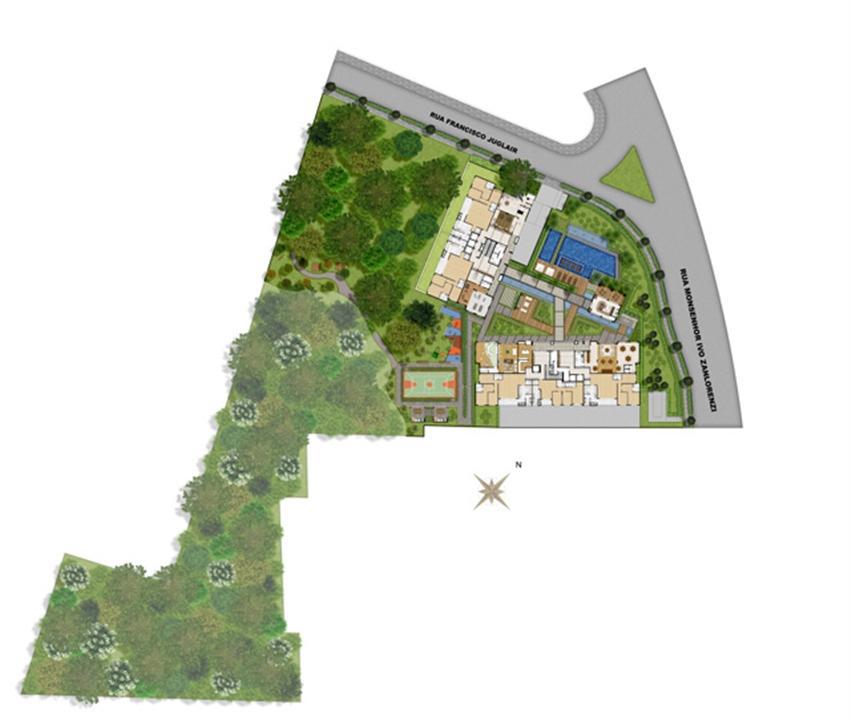 Perspectiva ilustrada da implantação | Reserva Juglair Ecoville – Apartamentono  Ecoville - Curitiba - Paraná