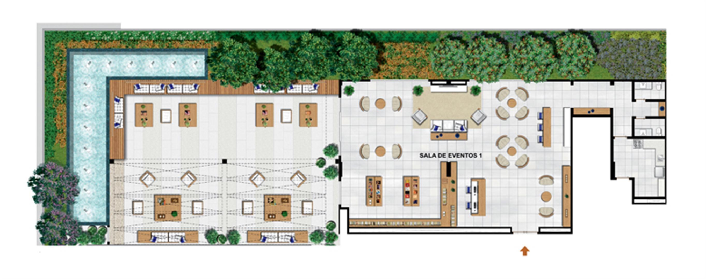 Planta de 503 m² privativos - Sky Lounge | Vega – Salas Comerciais na  Asa Norte  - Brasília - Distrito Federal