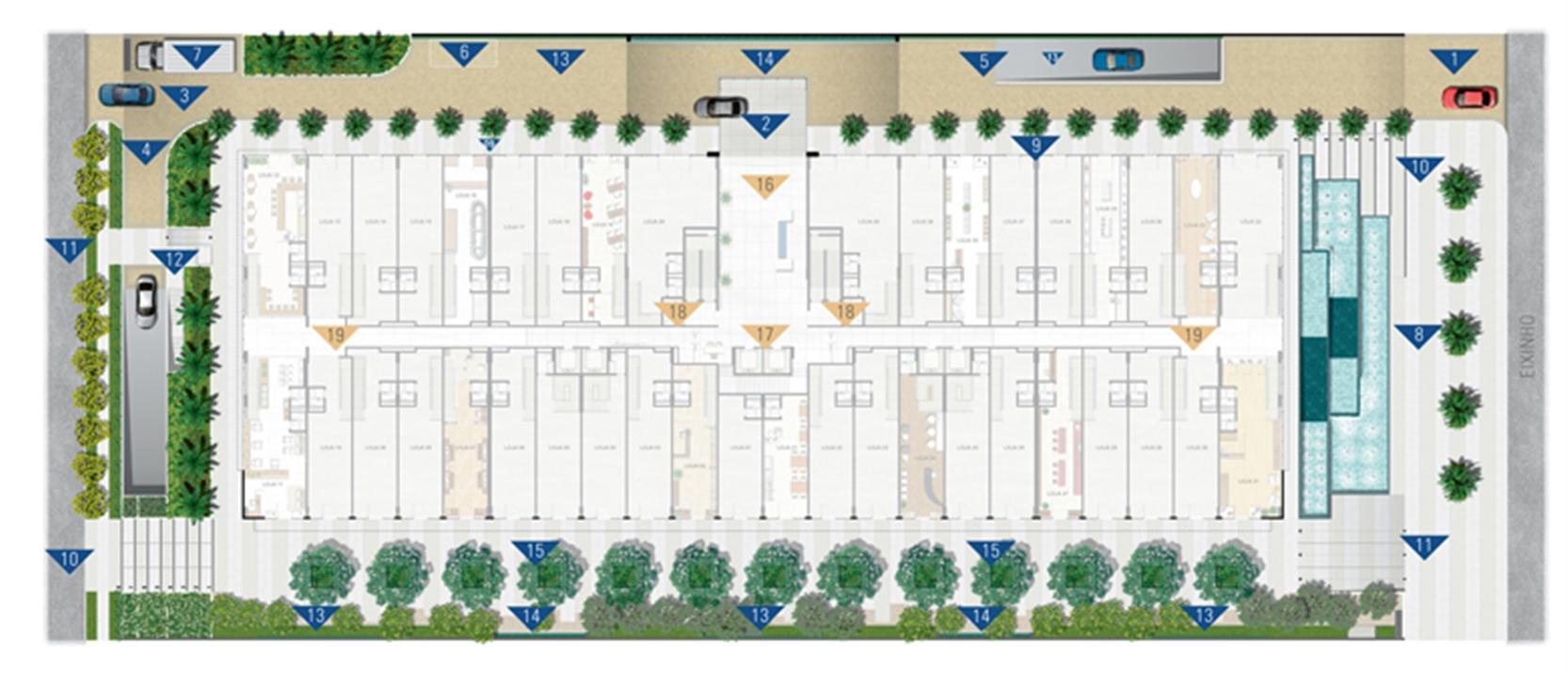 Implantação Geral  | Vega – Salas Comerciaisna  Asa Norte  - Brasília - Distrito Federal