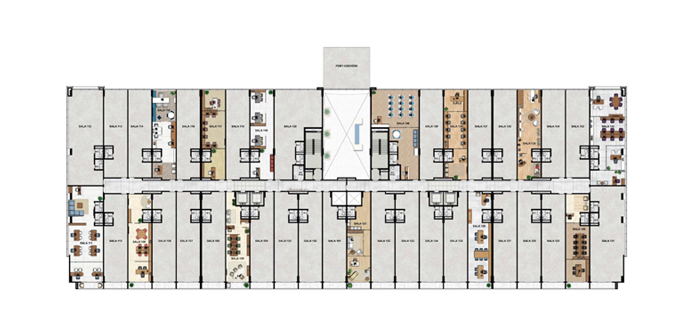 1° Pavimento | Vega – Salas Comerciais na  Asa Norte  - Brasília - Distrito Federal