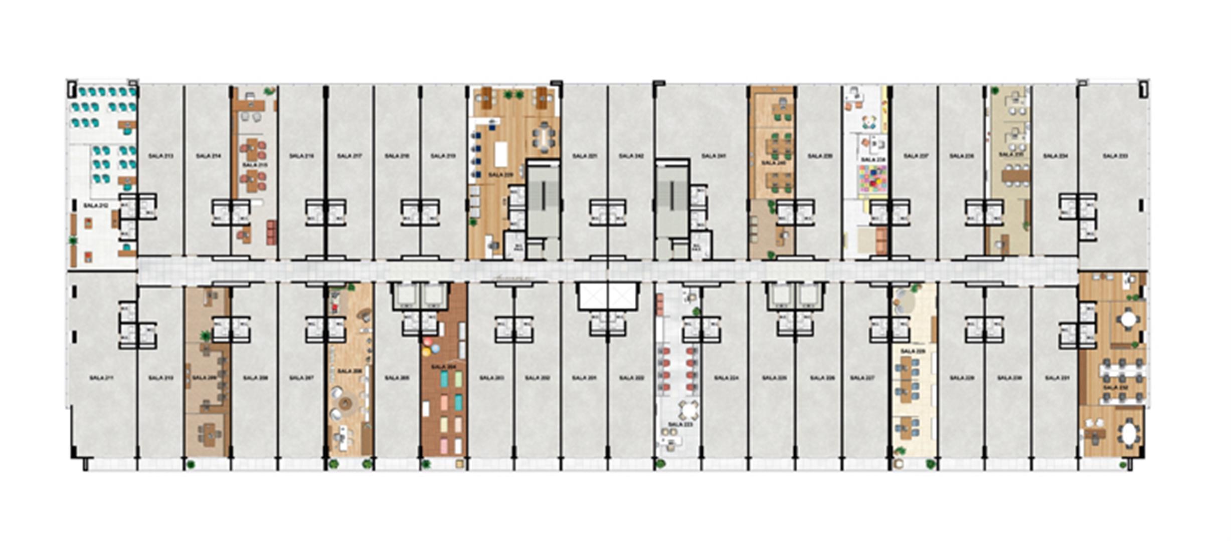 2° Pavimento | Vega – Salas Comerciais na  Asa Norte  - Brasília - Distrito Federal
