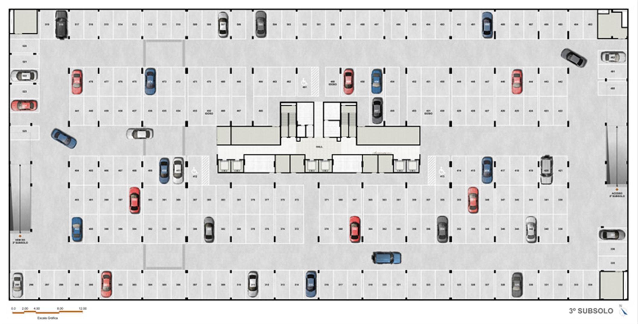 subsolo | Vega – Salas Comerciais na  Asa Norte  - Brasília - Distrito Federal