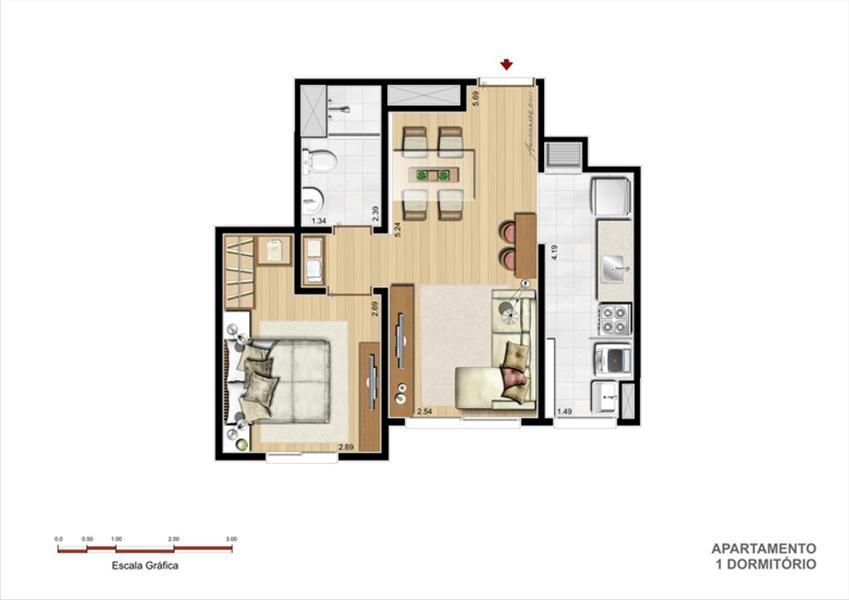 Planta:  | Supera Condomínio Clube - Apartamento  Próximo ao Zaffari Zona Sul - Porto Alegre RS