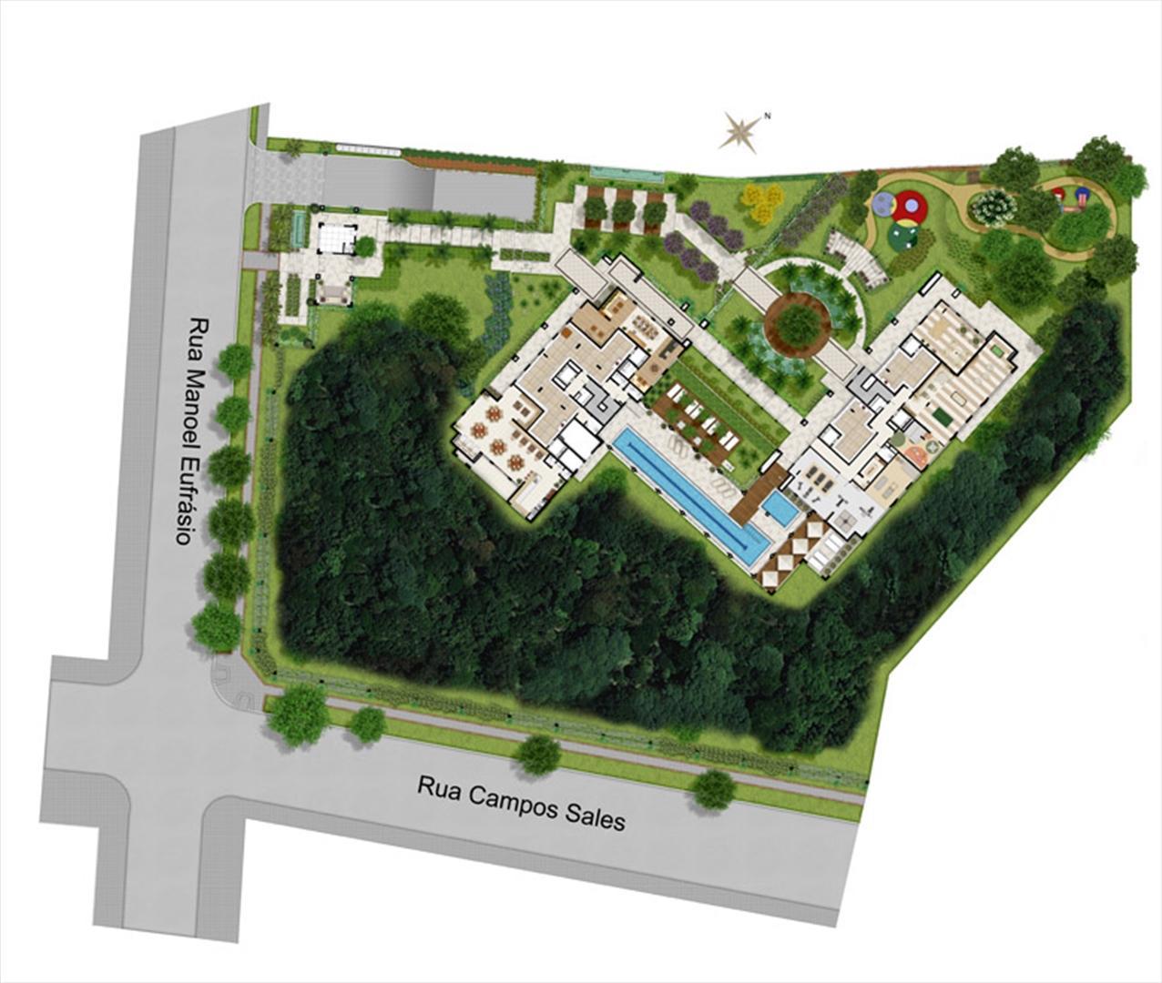 Implantação | Le Chateau  – Apartamento no  Juvevê - Curitiba - Paraná