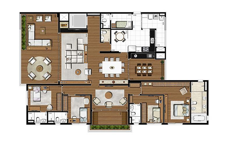 Apartamento Tipo 275m², 4 suítes, 4 vagas | Artisan Campo Belo – Apartamento no  Campo Belo - São Paulo - São Paulo
