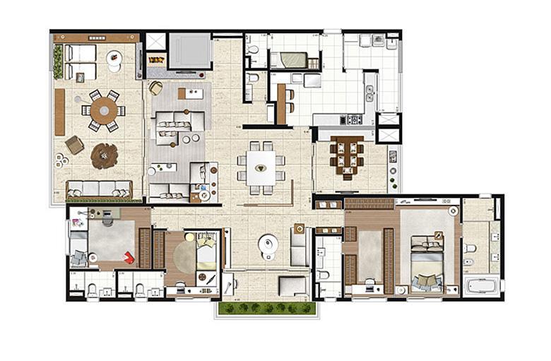 Apartamento Tipo 275m², opção 3 suítes com suíte master ampliada, 4 vagas | Artisan Campo Belo – Apartamento no  Campo Belo - São Paulo - São Paulo