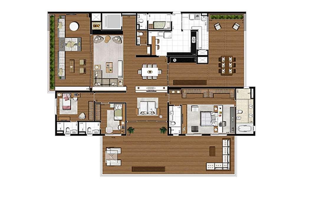 Apartamento com varanda 398m², opção 3 suítes com suíte master ampliada | Artisan Campo Belo – Apartamentono  Campo Belo - São Paulo - São Paulo