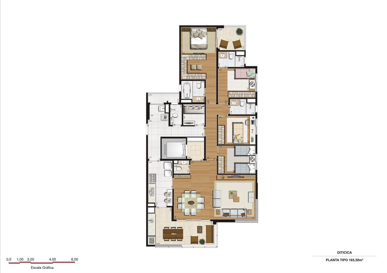 Planta 165,50 m2 | Vetrino Brooklin by Cyrela – Apartamento no  Brooklin - São Paulo - São Paulo