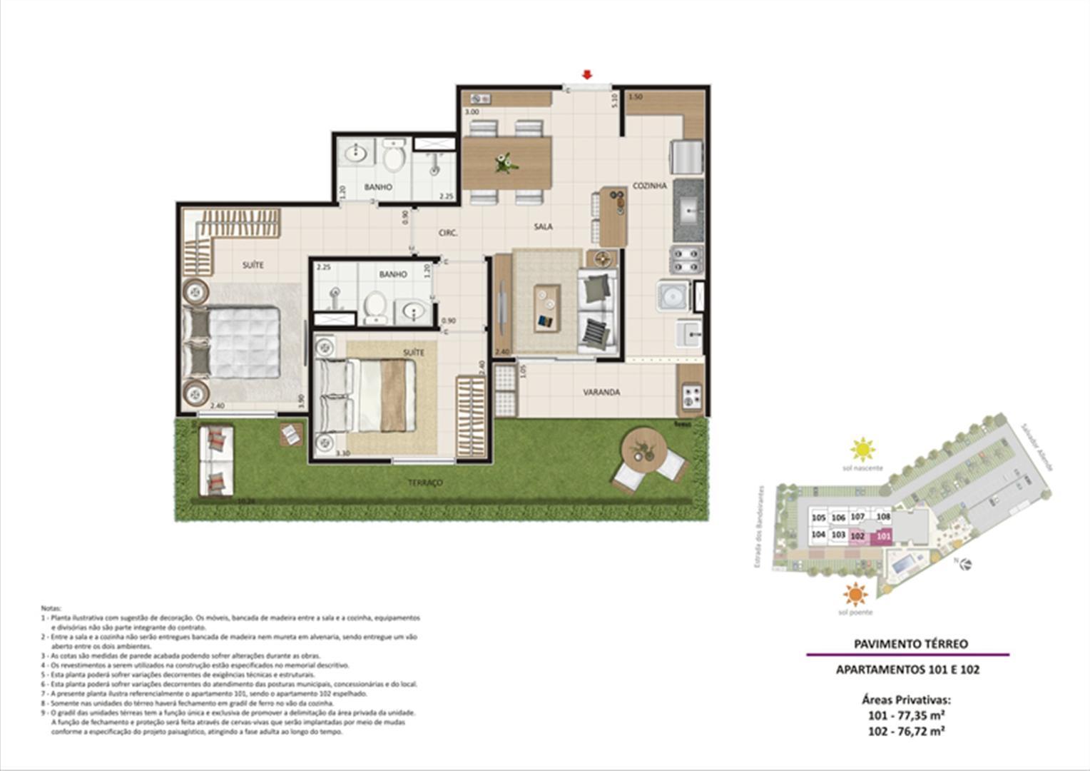 Apartamento 2 quartos tipo 01 - Terraço | Live Bandeirantes All Suites – Apartamento em  Jacarepaguá - Rio de Janeiro - Rio de Janeiro