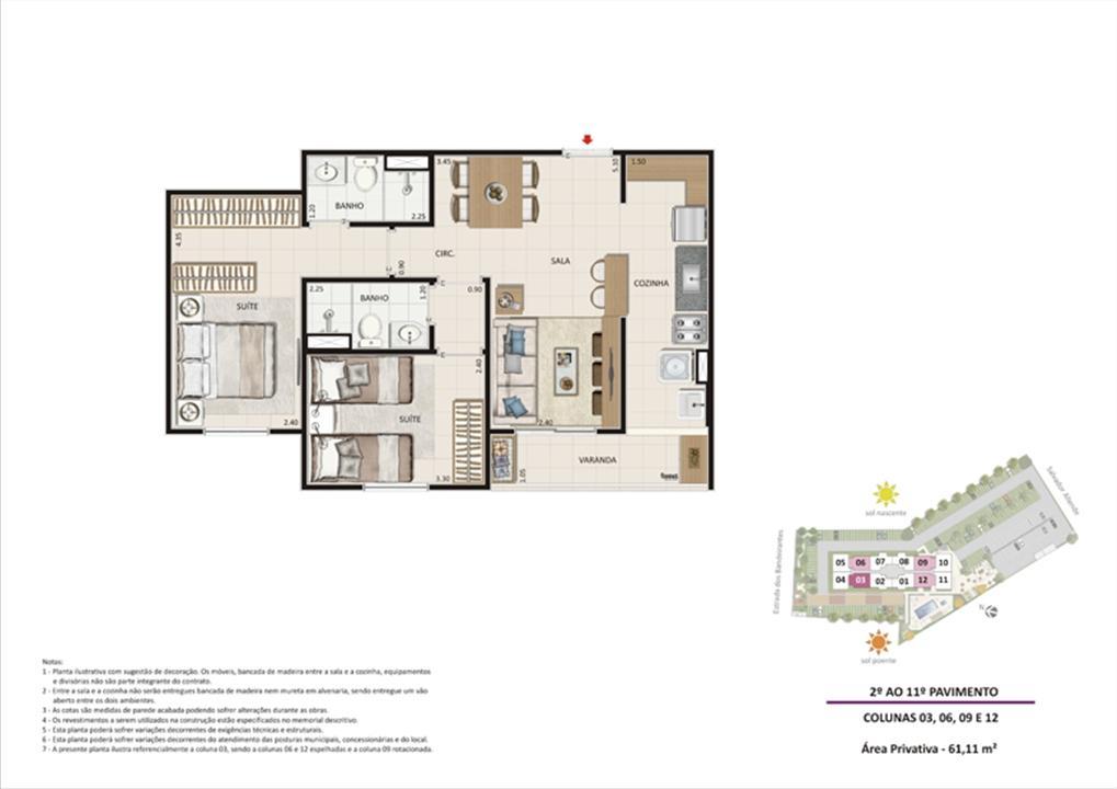 Apartamento 2 quartos tipo 02 - Espelhado | Live Bandeirantes All Suites – Apartamentoem  Jacarepaguá - Rio de Janeiro - Rio de Janeiro