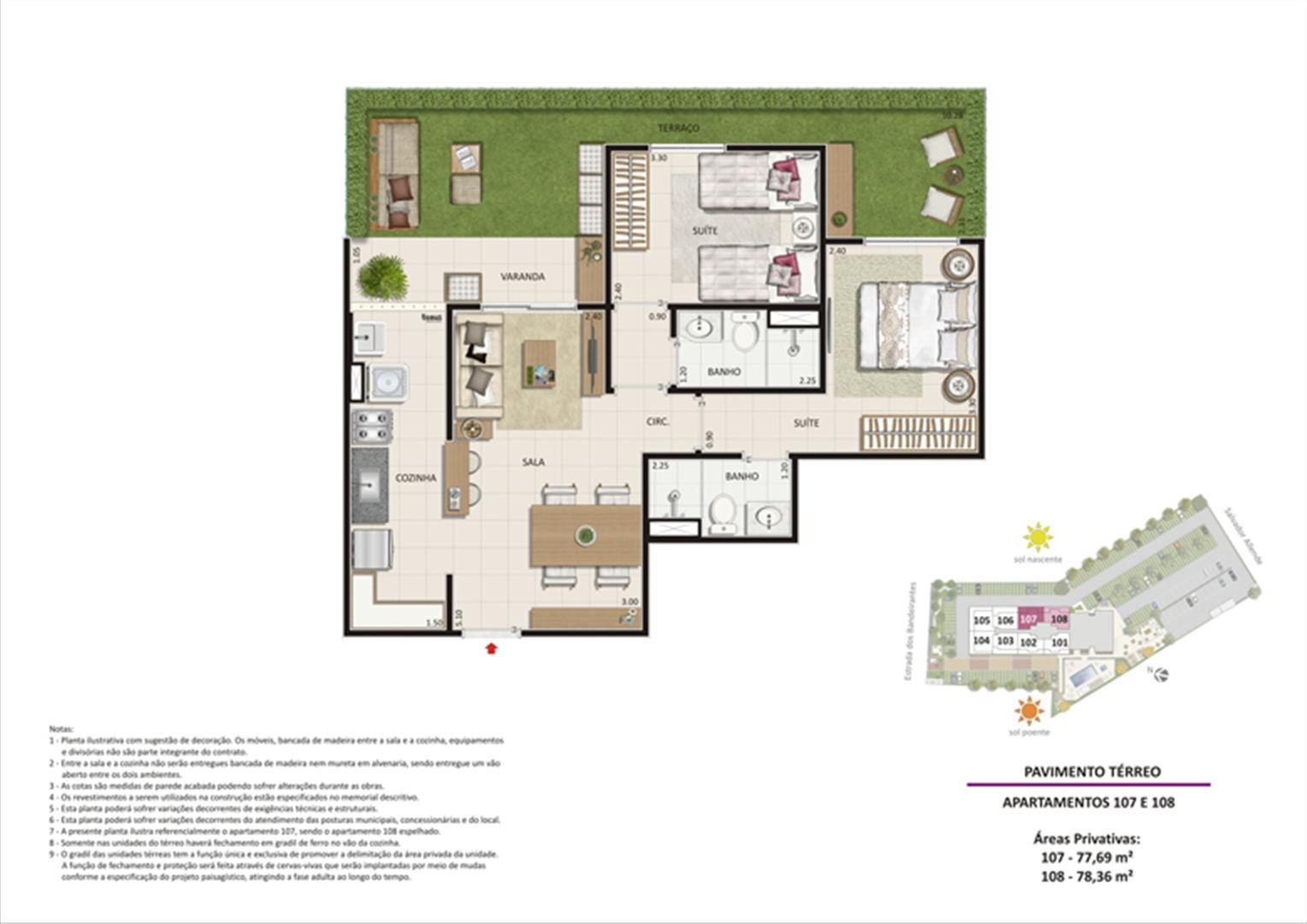 Apartamento 2 quartos tipo 04 - Terraço | Live Bandeirantes All Suites – Apartamento em  Jacarepaguá - Rio de Janeiro - Rio de Janeiro