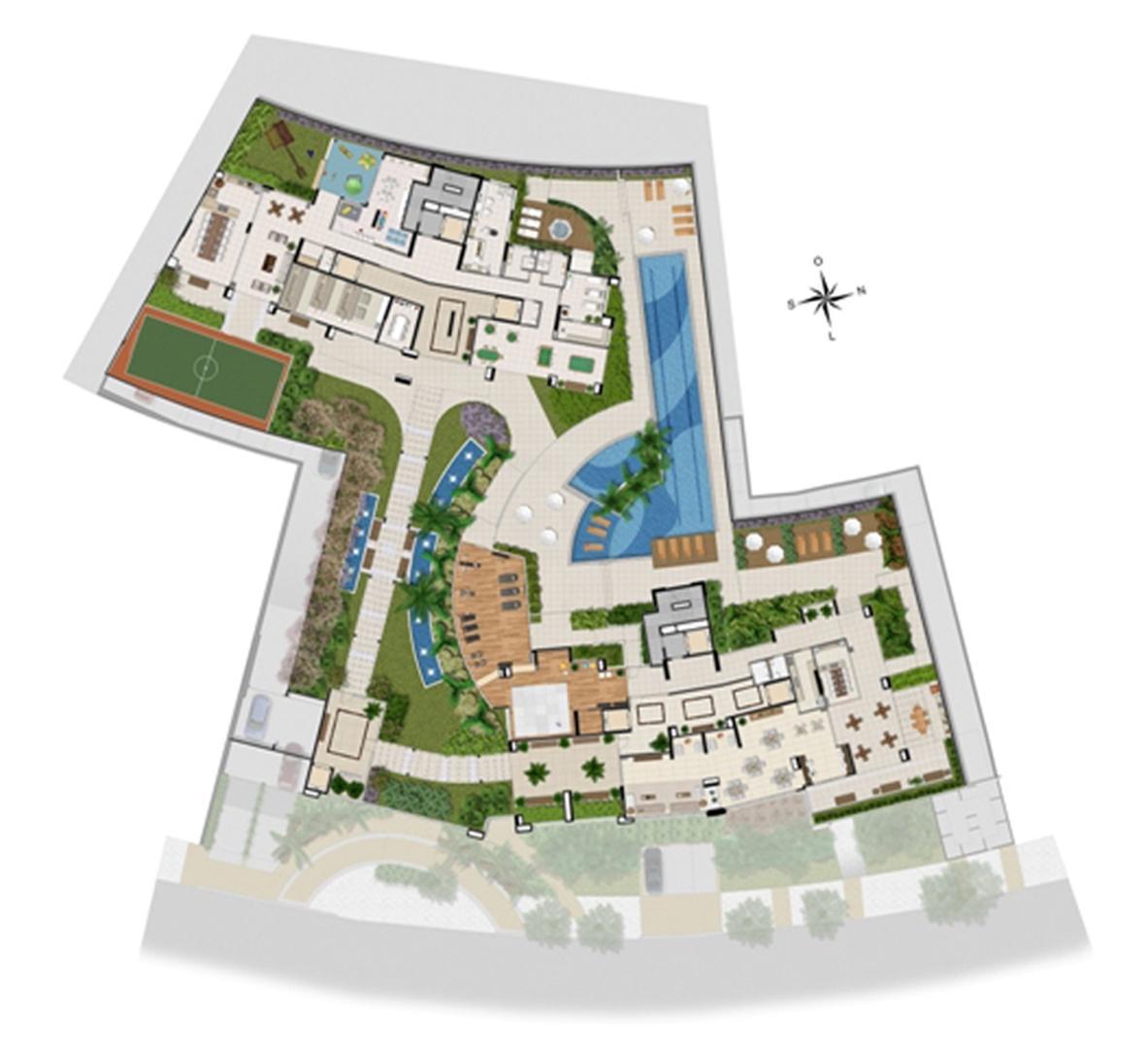Implantação lazer | Chateau Marista LifeStyle – Apartamento no  Setor Marista - Goiânia - Goiás