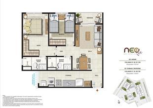 Colunas 1, 2, 5 e 6 | NEO Life Residencial  – Apartamento em  São Cristovão - Rio de Janeiro - Rio de Janeiro